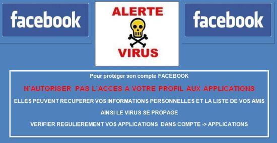 virus sur compte facebook